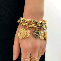 Gold Fashion Personality Wild Bracelet
