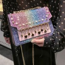 Multi-color Fashion Casual Patchwork Multicolor Crossbody Bag