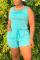 Cyan Fashion Casual Sleeveless Sports Romper