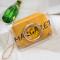 Yellow Fashion Letter Print Crossbody Bag