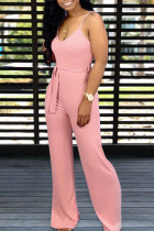 Pink Sexy Lovely Jumpsuits