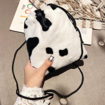 White Fashion Casual Animal Print Crossbody Bag