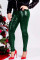 Green Fashion Party Solid Sequins Sequined Skinny Mid Bottoms