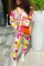 Multicolor Sportswear Print Tie-dye Hooded Collar Long Sleeve Two Pieces