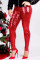 Red Fashion Party Solid Sequins Sequined Skinny Mid Bottoms