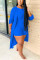 Blue Sexy Solid O Neck Long Sleeve Regular Sleeve Two Pieces