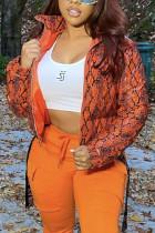 Orange Street Print Outerwear