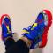 Blue Fashion Street Sportswear Frenulum Round Comfortable Sport Shoes