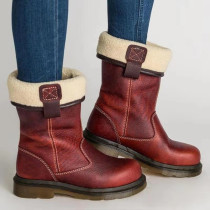 Red Fashion Casual Solid Color Keep Warm Snow Boots