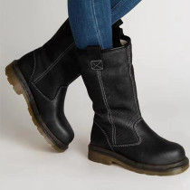 Black Fashion Casual Solid Color Keep Warm Snow Boots
