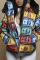 Khaki Street Plaid Split Joint Hooded Collar Outerwear
