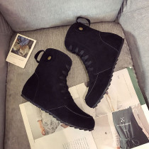 Black Fashion Casual Sweet Round Keep Warm Comfortable Shoes