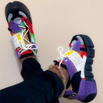 Purple Casual Split Joint Round Sport Shoes