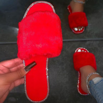 Red Casual Living Opend Keep Warm Comfortable Shoes