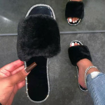 Black Casual Living Opend Keep Warm Comfortable Shoes