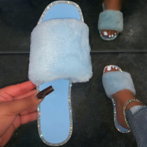 Light Blue Casual Living Opend Keep Warm Comfortable Shoes