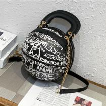 Black Fashion Casual Graffiti Basketball Bags