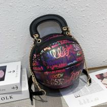 Purple Fashion Casual Graffiti Basketball Bags
