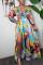 Multicolor Sexy Off Shoulder Printing Dress