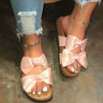 Pink Casual With Bow Round Comfortable Shoes
