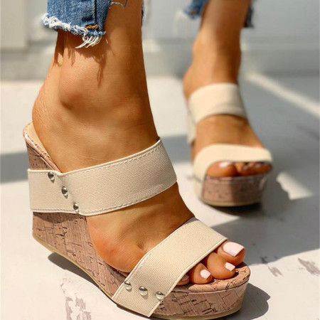 Cream White Casual Round Out Door Shoes