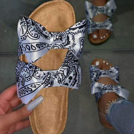White Casual With Bow Round Comfortable Shoes