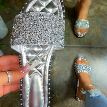 Silver Daily Hollowed Out Round Comfortable Shoes