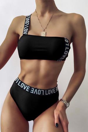 Black Fashion Sexy Solid Split Joint Swimwears
