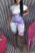 Purple Casual Print Tie-dye O Neck Regular Jumpsuits