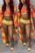 Orange Polyester Gradient crop top Sexy Fashion  Bikinis Set