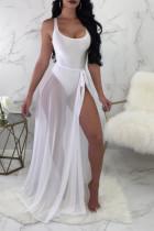 White Sexy See-Through Two-piece Swimwear