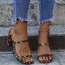 Leopard Print Casual Street Split Joint Opend Out Door Shoes