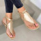 Gold Casual Hollowed Out Round Out Door Shoes