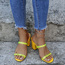 Yellow Casual Street Split Joint Opend Out Door Shoes