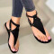 Black Casual Hollowed Out Round Out Door Shoes