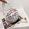 White Street Party Patchwork Print Bags