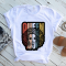 Multicolor Fashion Casual Print Basic O Neck Tops