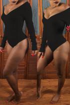 Black Sexy Slim Bodysuit