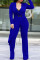 Blue Trendy Asymmetrical Knitting One-piece Jumpsuit
