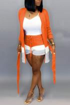 Orange Fashion Casual Loose Two Pieces