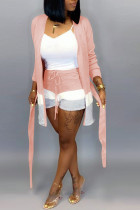 Pink Fashion Casual Loose Two Pieces