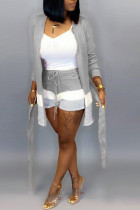 Grey Fashion Casual Loose Two Pieces