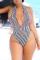 Stripe Sexy Striped Split Joint Swimwears