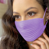 Purple Fashion Casual Solid Mask