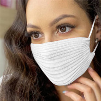 White Fashion Casual Solid Mask