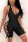 Black Sexy Sleeveless Off Shoulder Romper