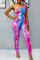 Multicolor Sexy Fashion Printed Off-shoulder Jumpsuit