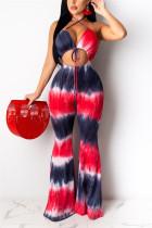 ReddishBlack Sexy Printed Off Shoulder Jumpsuit