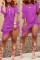 Light Purple Casual Knot Design Blending Knee Length Dress