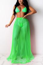 Green Sexy Fashion Swimsuit Three-piece Set